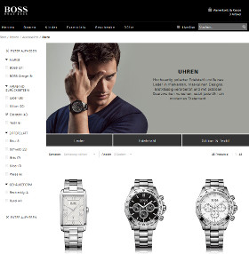 Screenshot Hugo Boss Uhren